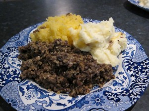 Haggis, neeps and tatties (http://essentiallyinert.wordpress.com)